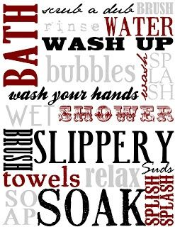 Free Printable bathroom Subway Art | Visit wiresanddiamonds.blogspot.ca