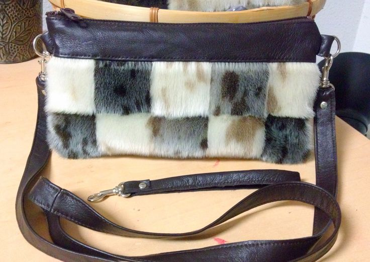 Seal Skin Patchwork Clutch/Wristlet/Crossbody Bag by Tundraberry