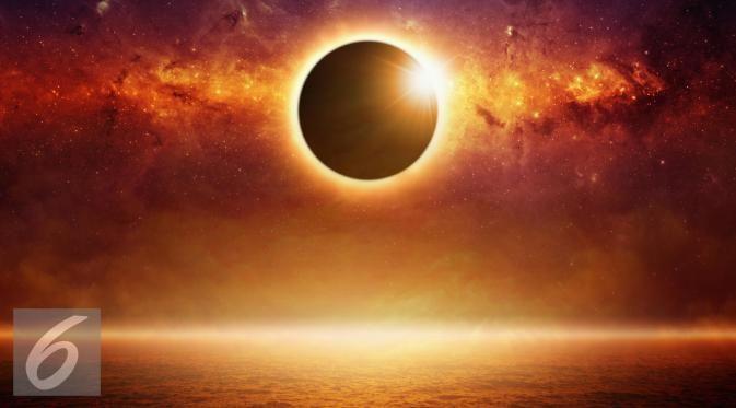 Ilustrasi Gerhana Matahari Total (iStockphoto)
