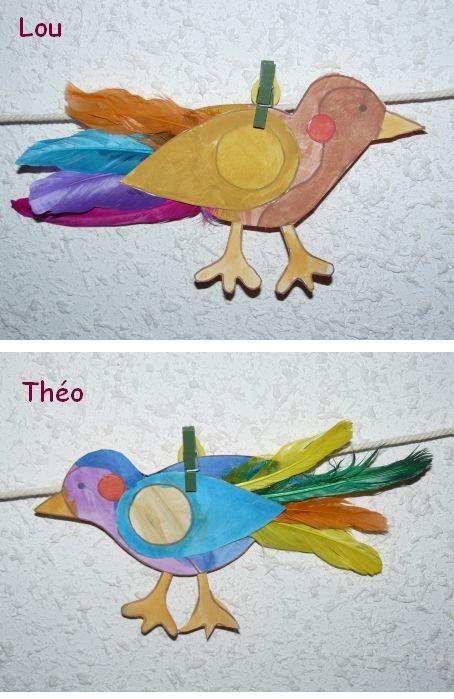 Petits oiseaux en plumes