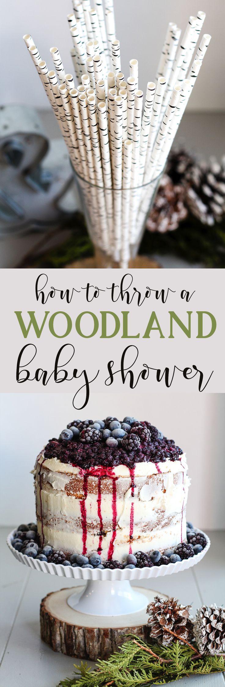 Wald Themen Baby-Dusche   – DIY Baby