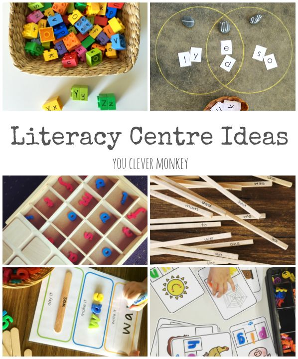 Literacy Centre Ideas   activities and printables perfect for use with 5 7 year old children to help develop their early literacy skills   you clever monkey