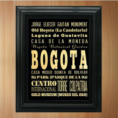 Bogota Colombia Typography Art Poster/ Bus / by LegacyHouseArt, $19.95