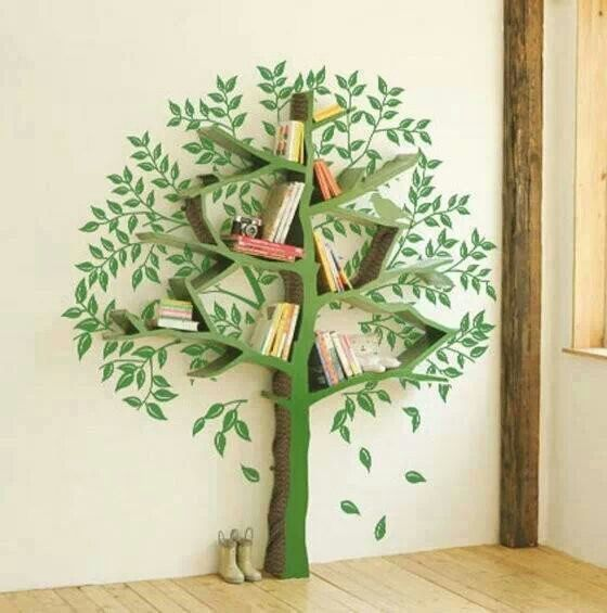 Let's Try To Make...: Tree Themed Shelving