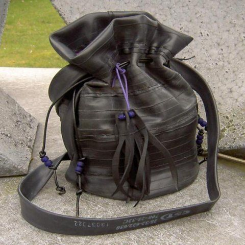 purse made from bike tubes