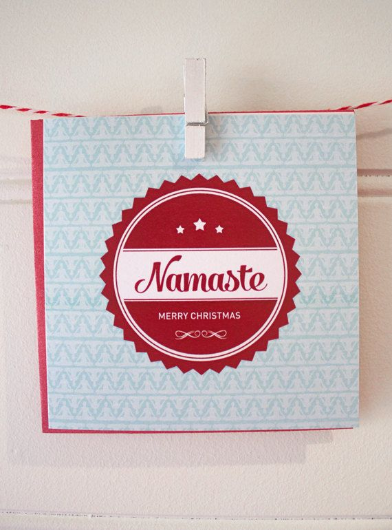 Yogi Christmas Card. Namaste by Rambutan Designs. follow @ http://www.facebook.com/rambutandesigns