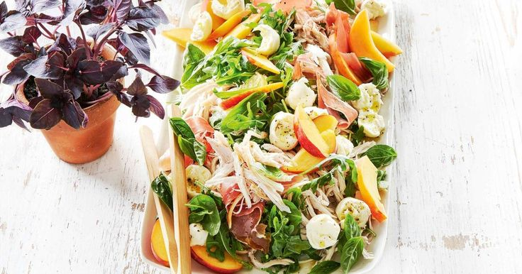 Throw together this tasty chicken, peach and rocket salad in just 20 minutes.