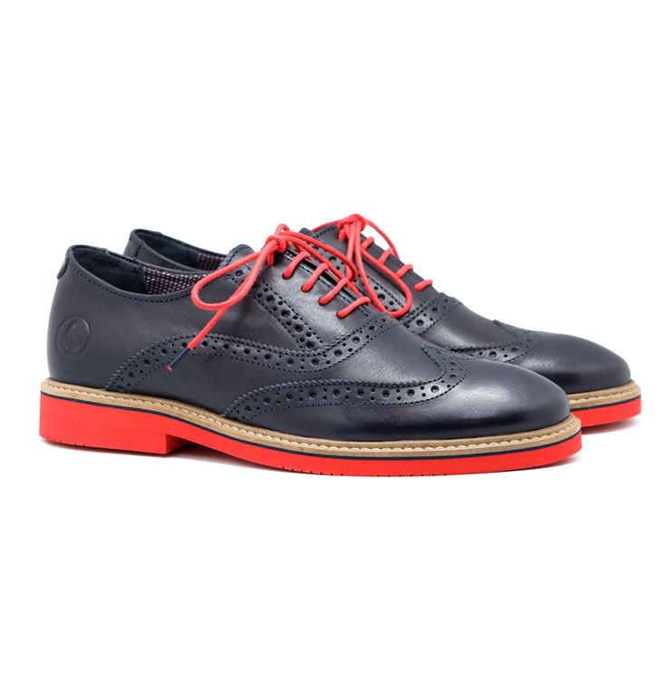 Navy Leather Oxford Shoes | El Ganso Online Store
