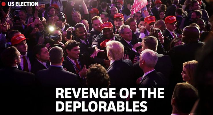 liberal fringes falling out of favor. big corporations billion$ couldn't bully their way past the american people, whose voice, silenced... 1 the media 2 wall street 3 sIG's/lobbyists 4 foreign pay2play influenzas 5 corporate sway 6 corrupt justice department    donald trump doesnt owe any outsider shit. he loves this country. why did he run? he's the man to restore america to her former glory.   -basket case deplorable