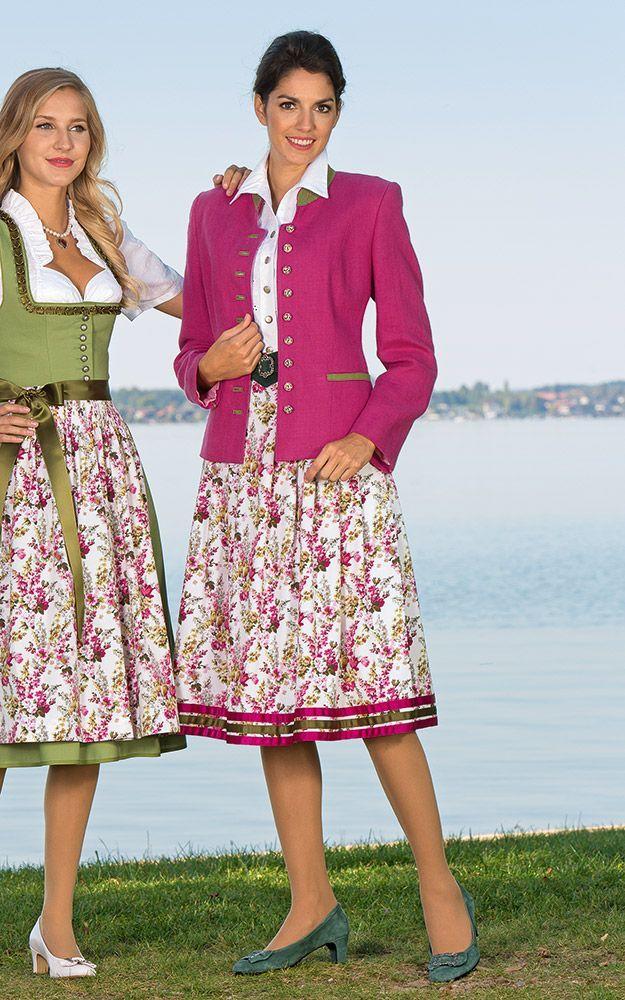 Chiemseer Dirndl & Tracht Online Shop-Rock Starnberg, floral
