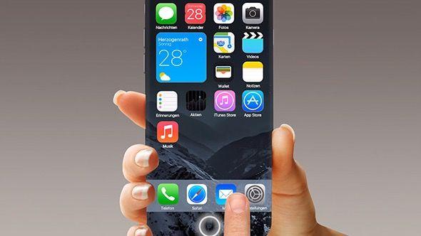 iPhone 7 con tasto Home virtuale e iOS 10 con nuovi widget mostrati in un video concept