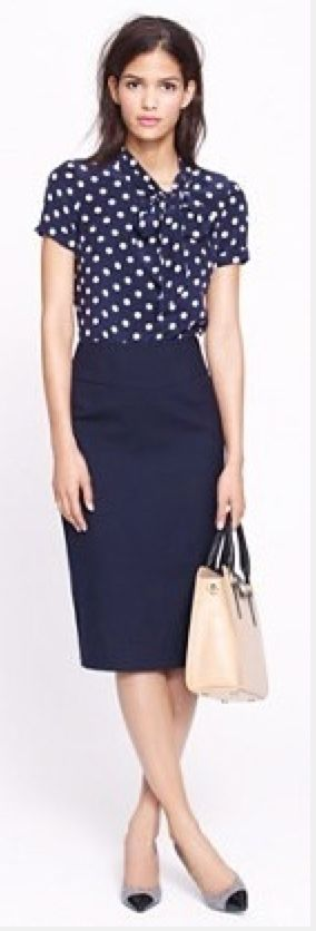 1000+ ideas about Navy Pencil Skirts on Pinterest | Business casual outfits Outfit posts and ...