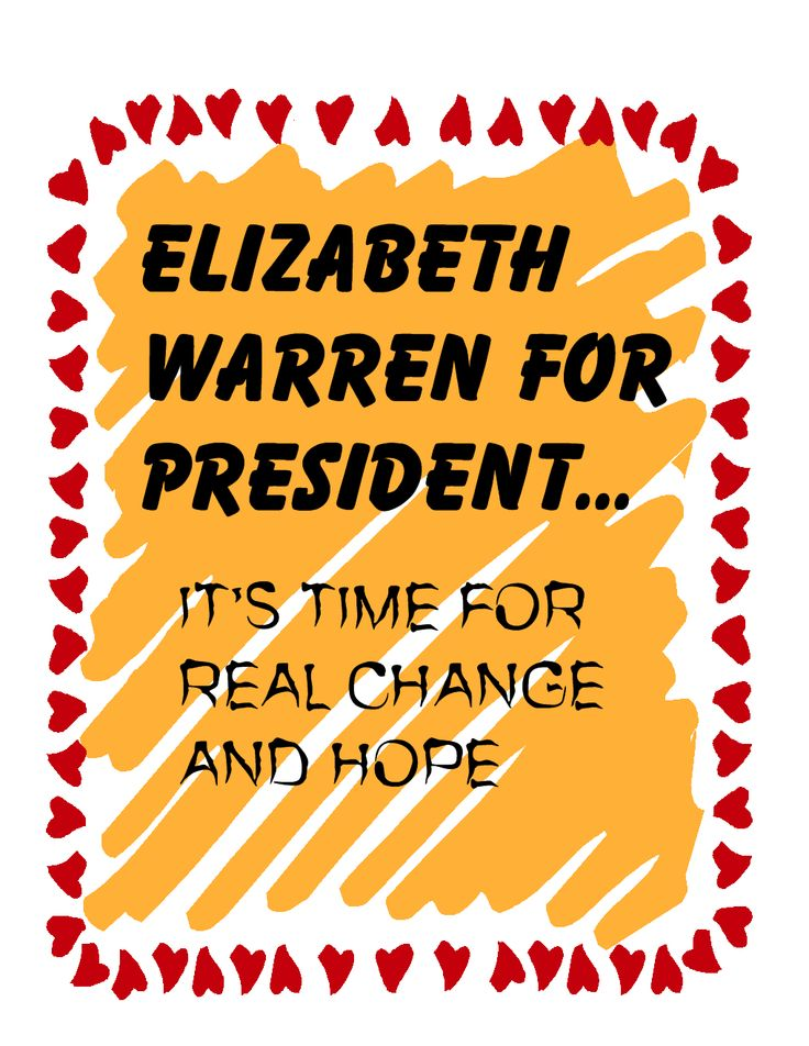 I might consider Elizabeth Warren for President instead of Hillary... O.O