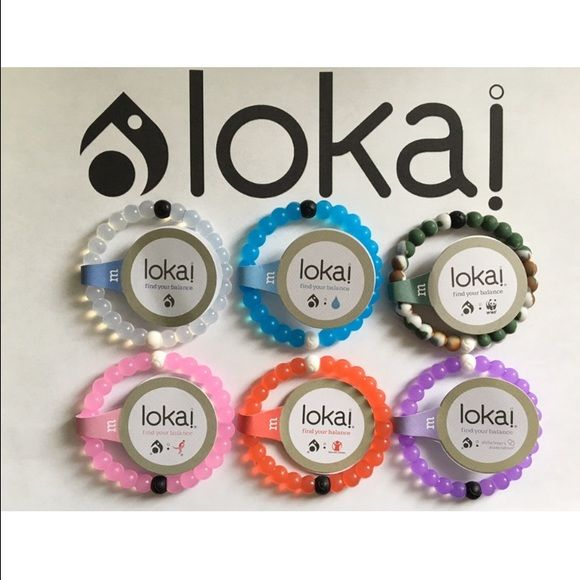 $20 for 4 Lokai Bracelets - Any Color - Any Size This listing is for 4 Lokai Bracelets. Each Lokai is infused with elements from the highest and lowest points on Earth. The bracelet's white bead carries water from Mt. Everest, and its black bead contains mud from the Dead Sea. Package will come with your choice of any 4 Lokai Bracelets. Please leave me a comment with the colors and sizes you need. If you need more Lokai Bracelets send me a comment and let me know what you need. I will make…