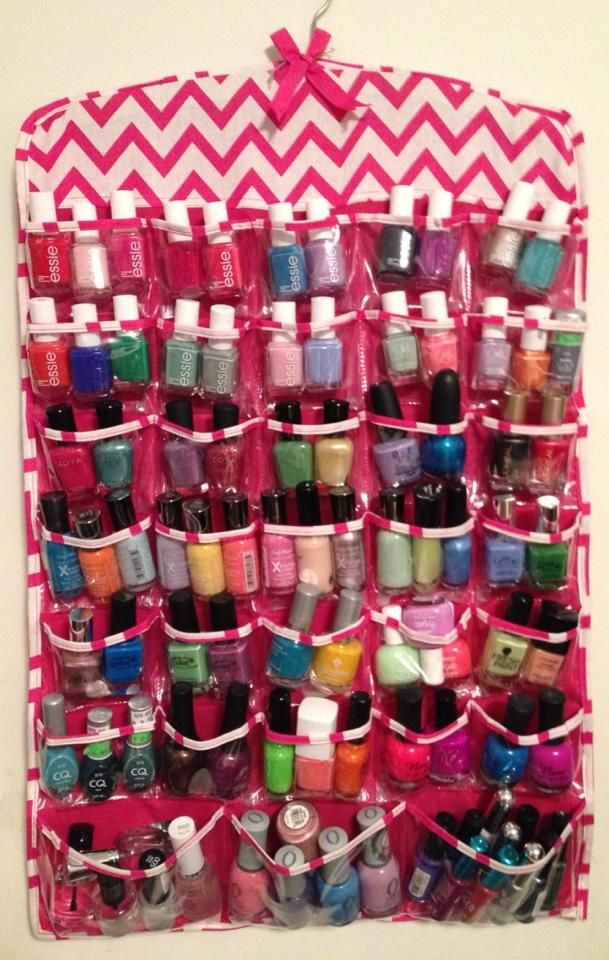 nail polish storage. I'm TOTALLY going to steal this idea!!!!