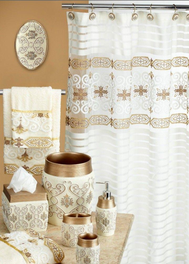 Pin By Martharoach On Bathroom Shower Curtain Set Curtains