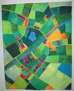 Alicia Merrett: Canal Country   From the blog of a German artist..more map quilts.