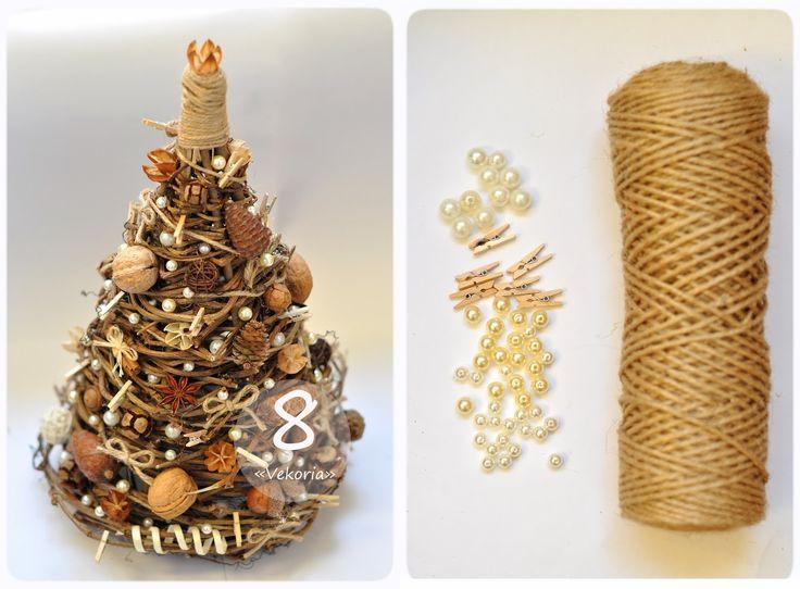 Vekoria.Творческий стеллаж Виктории Сокур: Мастер-класс : ёлочка из веток дерева