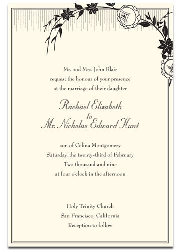Text For Wedding Invitation