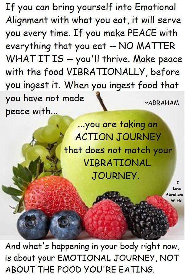 Abraham Hicks Healthy Food