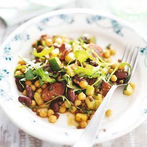 Snel recept: Bonen met chorizo en rucola