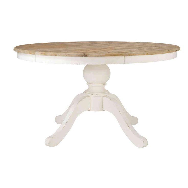 mesas redondas blancas extensibles
