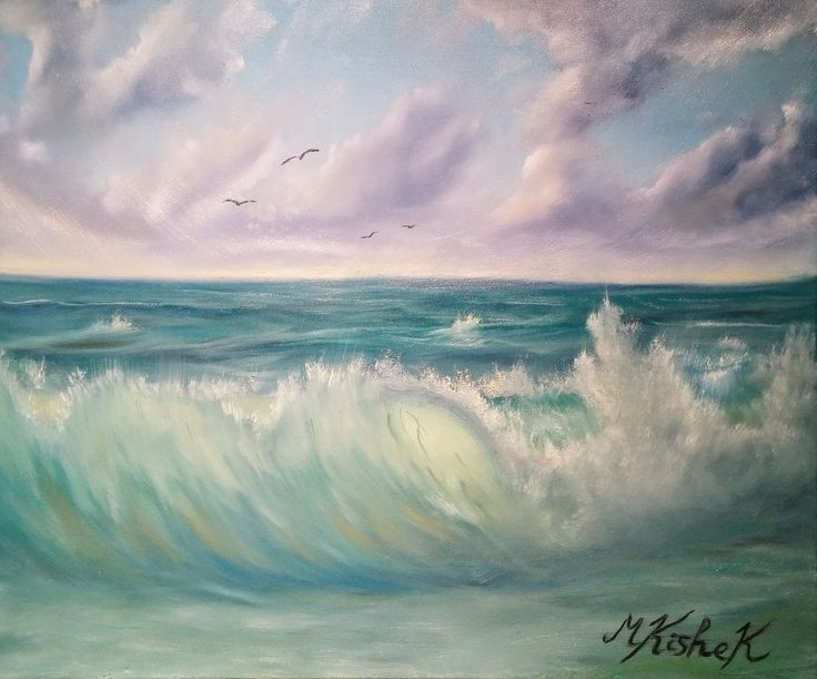 (c) The Wave by Marwan Kishek. Oil on canvas 20