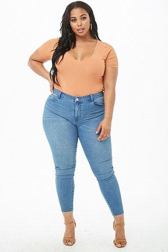 95a4b9d61e Plus Size Sculpted High-Rise Skinny Jeans in 2019