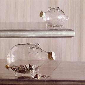 Glass Piggy Banks