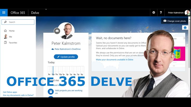 *Office 365 Delve - Each User's Personal Profile App* Delve, each Office 365 user's app for professional information, relevant files and contacts, personal blog and more: http://www.kalmstrom.com/Tips/Office-365-Course/Profile-Picture.htm