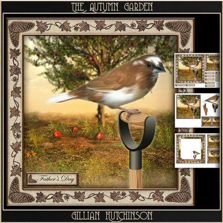 The Autumn Garden on Craftsuprint designed by Gillian Hutchinson - Simply Sumara…