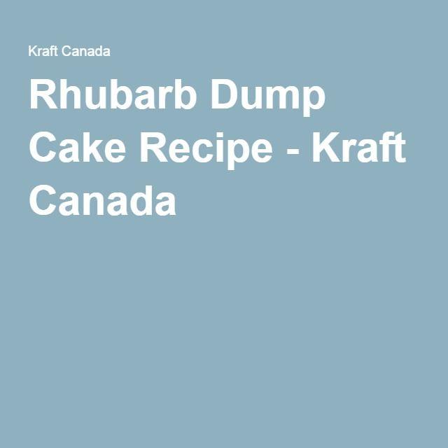 Kraft Rhubarb Dump Cake Recipe
