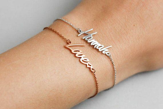 Name bracelet Dainty Name Bracelet Personalized Gift for