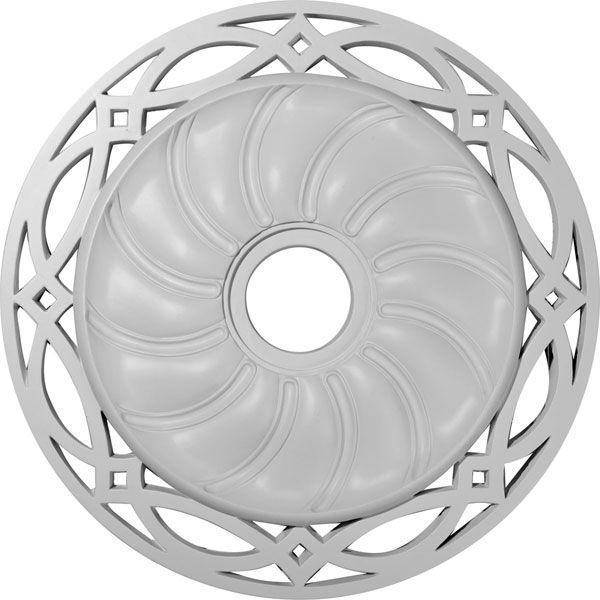 26 58inch od x 4 12inch id x 1 38inch p loera ceiling medallion fits canopies up to 6 14inch - Ceiling Medallion