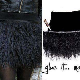 Cómo hacer una falda de fiesta con plumas para Fin de Año