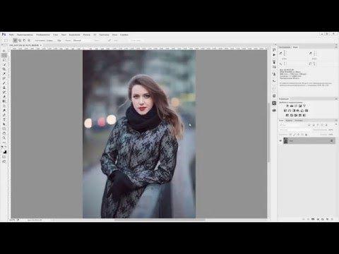Как создать снег в Photoshop? - YouTube