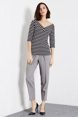 STRIPE BARDOT TOP - Love this nautical look