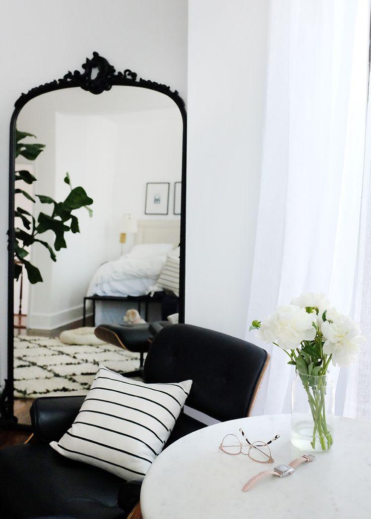 simple elegant black and white bedroom design alaina kaczmarski home - Large Bedroom Design