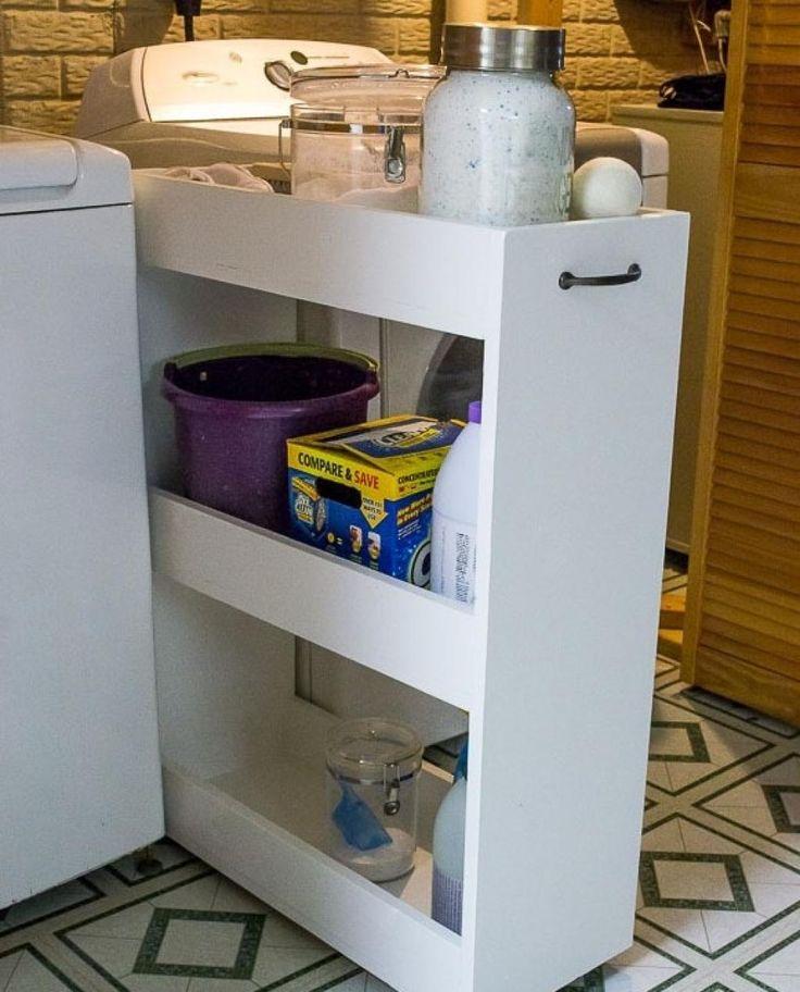 Cette dame n'avait pas d'espace dans sa salle de lavage. Jusqu'à ce qu'elle ait cette idée! - Trucs et Astuces - Trucs et Bricolages