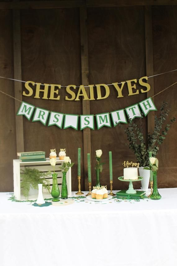 444b9df6a15 She Said Yes Banner Wall Hanging