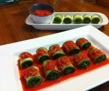 Zucchini Pesto Rolls with Pepper Dip | Official Thermomix Recipe Community