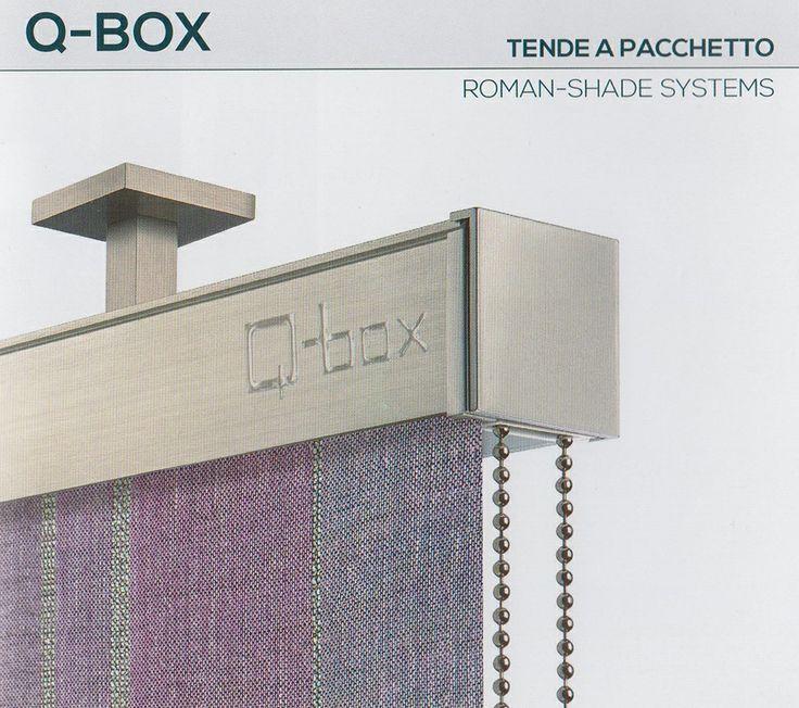 """Tenda a pacchetto Q-Box della collezione """"Futura"""" #Mottura. Il tessuto disponibile della collezione Atelier è il """"Lino F.R."""" Ti aspettiamo presso il nostro punto vendita di Via Tiziano, 26 a Palermo per una consulenza gratuita."""