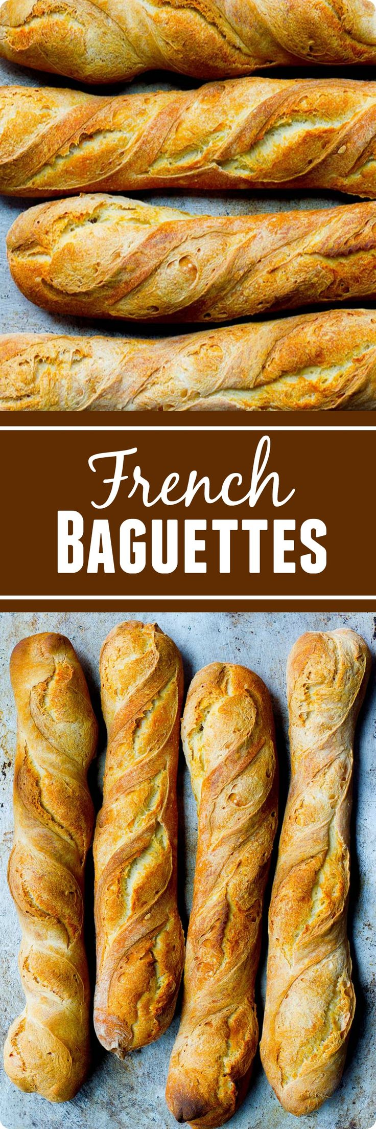 French Baguette | This classic French baguette recipe breaks down the step-by-step process so that you can achieve artisan homemade baguettes! This recipe produces authentic French baguettes with a crusty outside and a fluffy and chewy inside. Find recipe at redstaryeast.com.