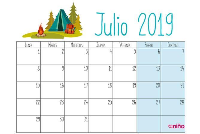Calendario Diario Para Imprimir 2019.Calendarios 2019 Para Ninos Para Descargar E Imprimir