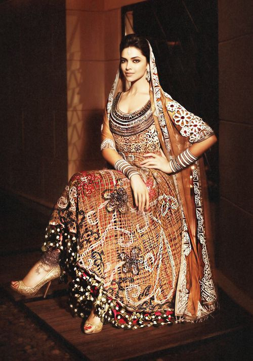 Dipika Padukone in a beautiful Indian Wear
