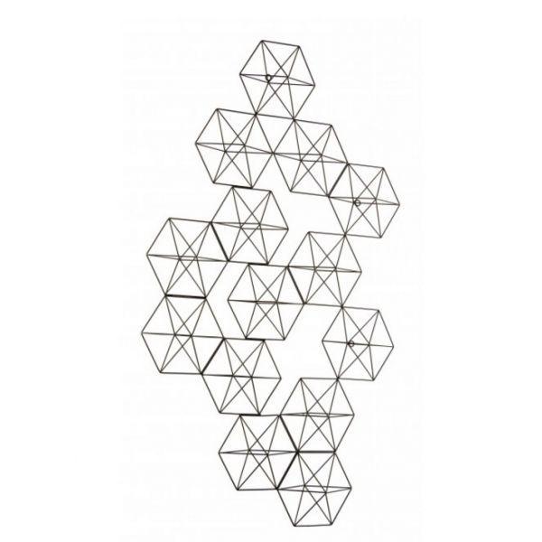 Decoración diamante negro 61 X 69,5 cm