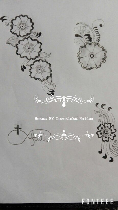 Henna floral drawings