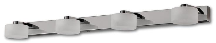 Laurie Lumière, luminaire, éclairage, salle de bain, pièce d'eau, applique réglette 4 points lumineux.