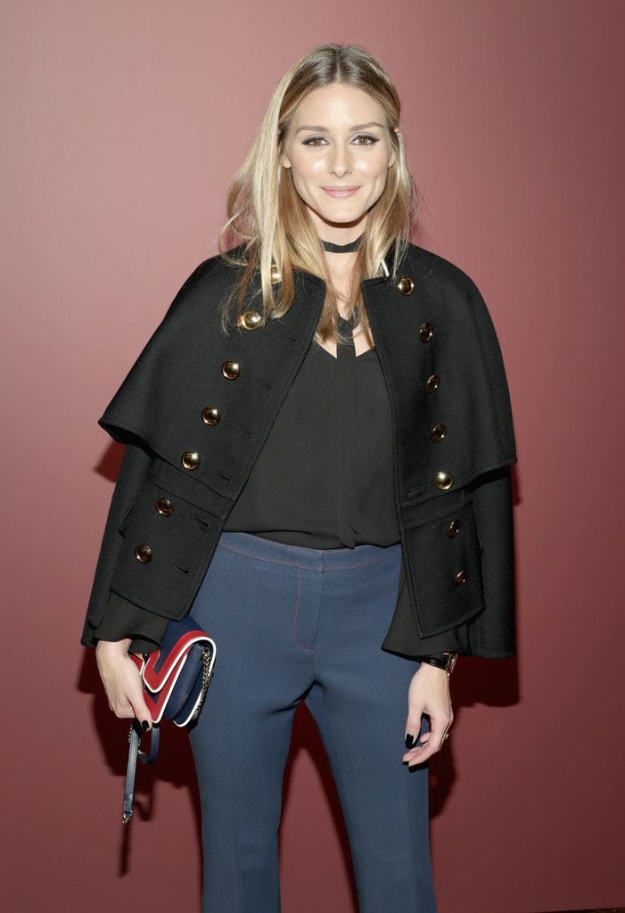 Olivia Palermo attends the celebration of 'The Tale of Thomas Burberry' with Sienna Miller and Dominic West at Burberry Soho on November 14, 2016 in New York City.