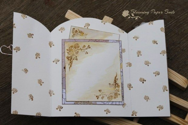 gate fold card, stamping ideas